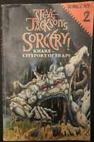 SORCERY! #2 Khare Cityport Of Traps Fighting Fantasy 1984 1ST EDITION Acceptable
