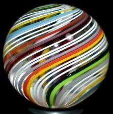 "JODY FINE HANDMADE GLASS MARBLE/1.120""-FALL SPECTRUM DOUBLE-GREEN LUTZ,YELLOW++"