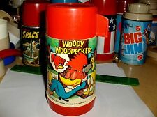 Woody Woodpecker`1972`Walter Lantz Productions.Aladdin-Plastic Lunchbox-Thermos