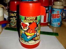 Woody Woodpecker`1972`Walter Lantz Productions.Aladdin-Plastic Lunchbox-Thermos