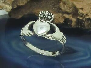 Claddagh 925 Silber Ring irischer Hochzeitsring Irland Kelten Liebe Treue