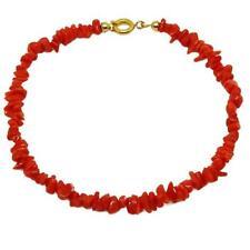 050da91040ee El Coral Pulsera Coral Rojo Cerdeña Chips 3.5mm con Cierre Dorado