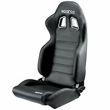 Sparco R100 Car/Motorsport/Racing Lightweight Sky Seat In Black Faux Leather