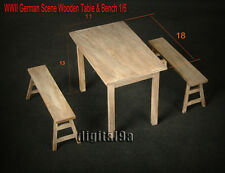 """HOT FIGURE TOY 1/6 scenario Solid wood Tables and chairs suit 12"""" Action Figure"""