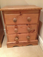 Handmade Bedside Tables & Cabinets with 3 Drawers