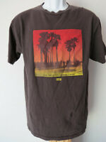 vtg Medium M GRAY MEN'S TEE SHIRT sunset skate surf original palm trees t