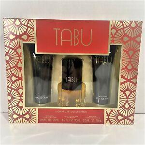 Tabu By Dana -1.2oz Eau De Cologne Spray+2.5oz B/Lotion&B/Wash-3Pcs Gift Set-NEW