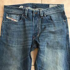 """Diesel Mens LARKEE 0R4S4 Wash Blue Distressed Regular Straight Jeans W32"""" L32"""""""