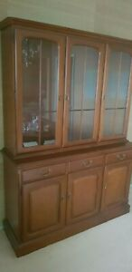 Solid Mahogany Display Cabinet. Beautiful finish in excellent condition.