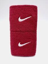 "Nike Swoosh Wristbands Team Crimson/White 3"" Men's Women's"