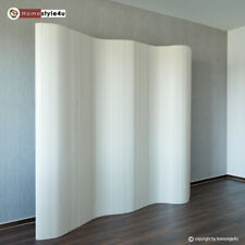 Paravent Raumteiler Trennwand Bambus Sichtschutz spanische Wand White Washed