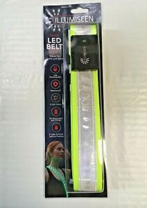 Illumiseen Hi-Viz LED Belt 2.0 Safe and Seen USB Rechargeable 8 colors FREE SHIP