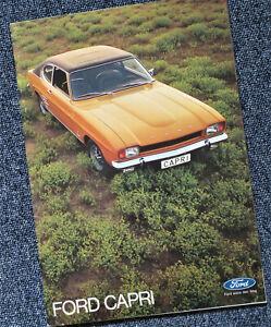 Ford Capri I Prospekt Brochure