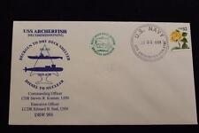 DRW NAVAL COVER # 265 DECOMMISSIONING USS ARCHERFISH (SSN-678) 1998 FANCY CANCEL
