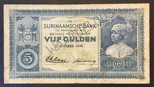 Suriname - 5 Gulden Banknote - 1935 - VF