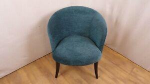 Teal colour tub shaped chair