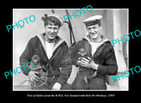 OLD POSTCARD SIZE PHOTO MILITARY PHOTO, SAILORS FROM HMS NEW ZEALAND c1919