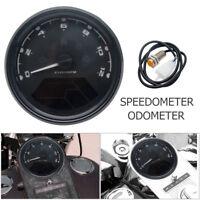 Motorcycle LCD Digital Odometer Speedometer Tachometer Gauge LED Instrument