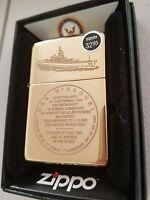 USS Missouri Battle Ship BB63 End WW2 Japan Surrender Zippo Lighter Pearl Harbor
