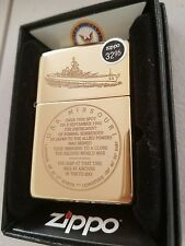 USS Missouri Battle Ship BB63 End WW2 Japan Surrender Zippo Lighter Pearl Harbor