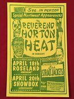 THE REVEREND HORTON HEAT Original Concert Poster Gig Flyer Portland Mike King