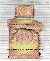 Indien Ombre Mandala Housse de Couette Coton Ethnique Lit Jeté Double Couverture