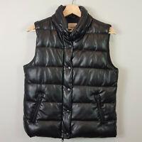 SEED HERITAGE | Womens Black Sleeveless Puff Jacket  [ Size AU 10 or US 6 ]