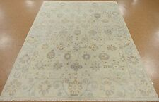 8 x 10 OUSHAK Hand Knotted Wool Tribal IVORY GRAY New Oriental Rug Carpet