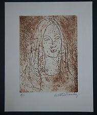 Leonid Fridman - Litho Signée numérotée/50 Benezit Artprice Arcadja Portrait