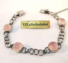 Stylistisches Armband Silber 925 Rosenquarz Adolf Regelmann bracelet / AG 433