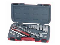 Teng Tools JULY OFFER! 39Pce 3/8 Drive Socket Ratchet Extension Tool Set + Case