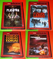 EL DIA MAS LARGO + PLATOON + TORA TORA TORA + UN PUENTE LEJANO -DVD R2- Precinta