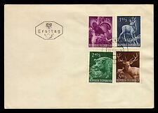 Austria FAUNA HUNTING WILD BOAR BIRD DEER 640-643 FDC COVER