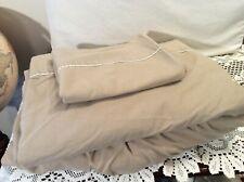 Westpoint Stevens Twin Sheet Set Linen Color Flat Fitted Pillow Case 50/50 Blend