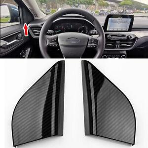 Black Carbon For Ford Focus MK4 4D 5D Interior Accessory A Pillar Speaker Cover