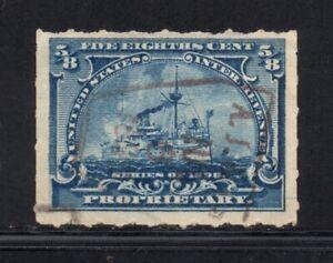 Scott # RB23, Used, F, ⅝¢ Battleship, Andrew Jergens & Co., New York, NY
