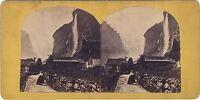 Suisse Chute Del Staubbach Foto Stereo Vintage Albumina Ca 1865
