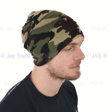 8feccadaaac4f Winter Men Ear Head Cover Warmer Knit Beanie Hat Army Hunting Camo  Camouflage
