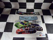 Tony Stewart Stewart-Haas Racing 2 Pack of  NASCAR Square Decals