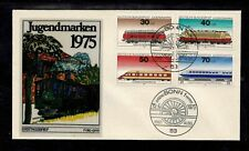 Germany 1975 Locomotives - Semi Postal FDC Complete Set Of Four Stamps- Mint