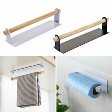 Under Cabinet Kitchen Towel Holder Roll Paper Cloth Storage Rack Self-Adhesive