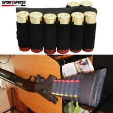 8 Round Shotgun Buttstock Shell Holder Elastic Ammo Tactical Holster 12/20 Gauge
