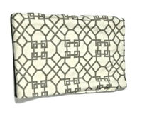 Windsor Smith Home Gray Cream Tablecloth Trellis Print Luxury Fabric or Blanket