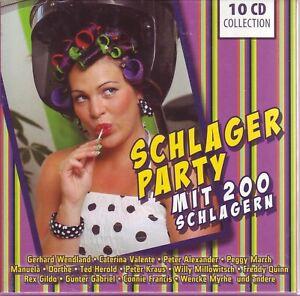 SCHLAGER PARTY - Mit 200 Schlagern   10 CD Collection