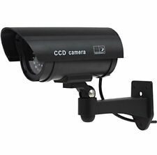 Outdoor Indoor Fake Dummy Imitation CCTV Security Camera W/Blinking Black