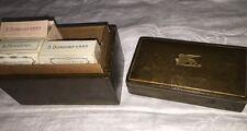 B Dondorf Germany Miniature Playing Cards No. 163 Leather Wood Box 3 Decks Birds