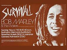 "Bob Marley Burlington 16"" x 12"" Photo Repro Concert Poster"