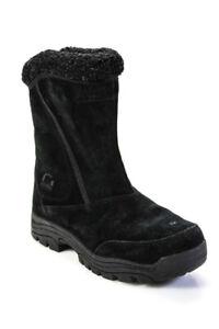 Sorel Womens Waterproof Suede Fleece Lined Mid Calf Boots Black Size 6