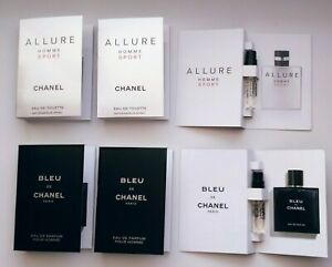 Chanel BLEU DE CHANEL EDP + ALLURE HOMME SPORT EDT Set 6X1,5 ml each
