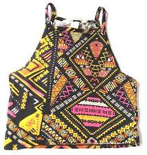 H&M Coachella womens Crop Top Size Small Stretch Halter multicolor tank